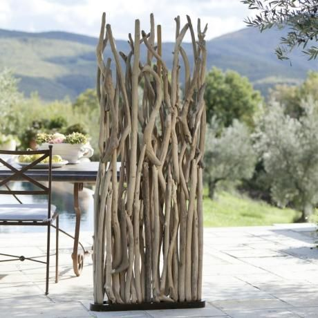 Paravent Woody #Terrasse #Garten #loberon #Treibholz