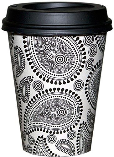 Barista Cup Co. PAISLEY PERK 100/pk 12 oz Coffee Cups & L…