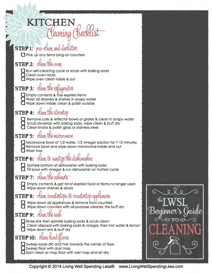 How to Clean the Kitchen | Deep Cleaning Checklist | Kitchen Cleaning Tips