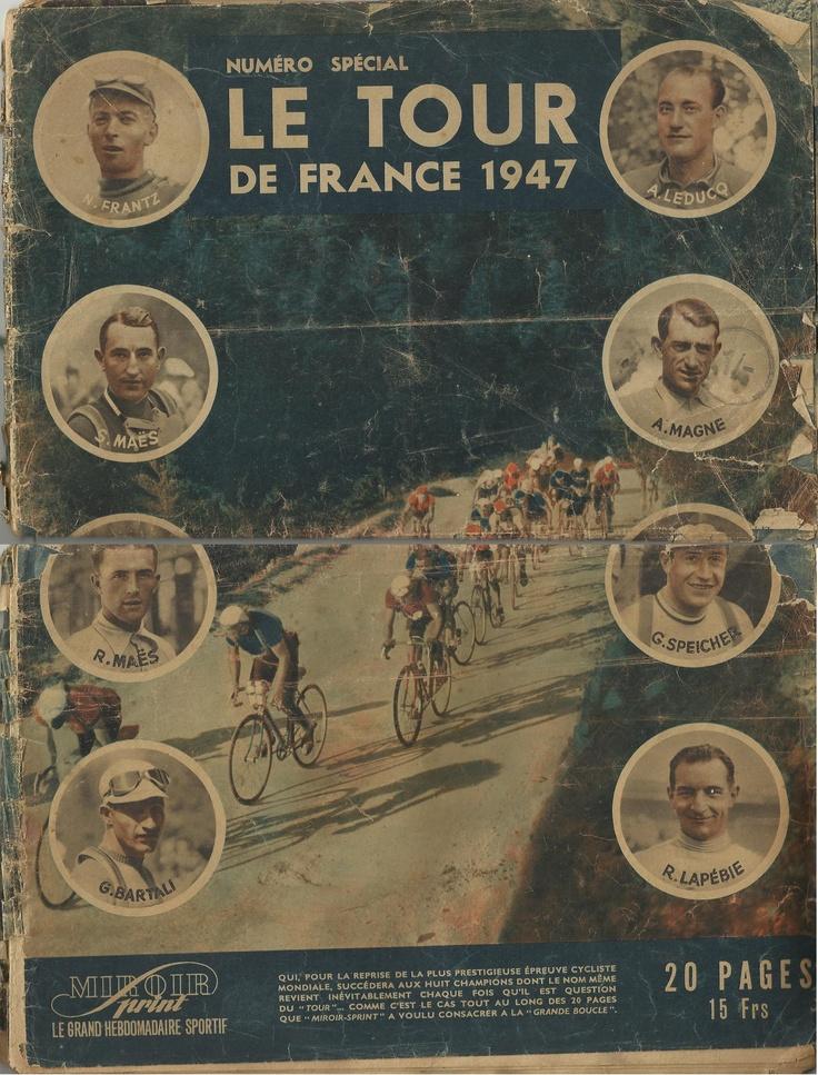 Rare 1947 journal of the Tour de France Absolute Gem!