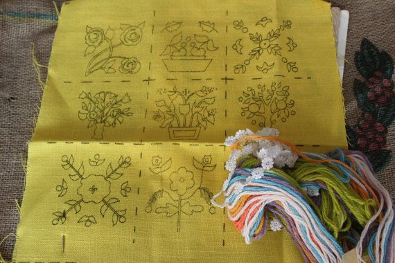 Vintage Crewel Embroidery Kit by TheCasseroleDish on Etsy, $10.00