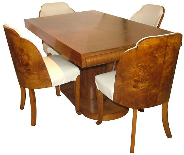 Really Strongly Like This Art Deco Dining Set Even If Its Small The Feel Is Similar To That Of Waterfall Furniture I Love For Bedroom