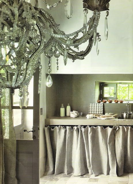 FROM MY WINDOWCottages Kitchens, Cotesud, Maison Cote, Cote Sud, Linens, Burlap Curtains, French Kitchens, Laundry Room, French Style