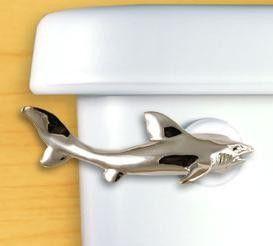 Shark Toilet Handle - Perfect for a shark themed bathroom.