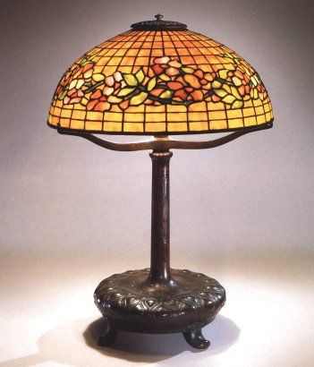 Antique tiffany table lamp for sale handel museum duffner kimberly suess unique art glass metal louis comfort tiffany studios favrile glass