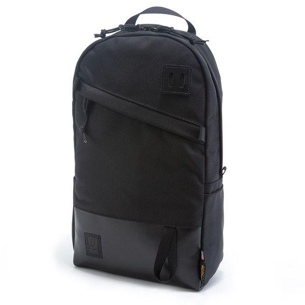 Topo Designs Daypack Ballistic/Black Leather Made in USA Backpack Bookbag