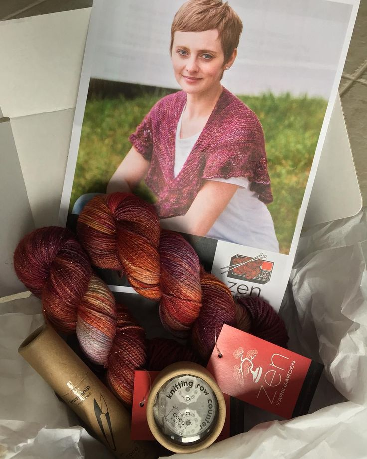 "Zen Yarn Box ""Come join our shawl box subscription! We ship every 2 months and you can join at anytime. Our…"""