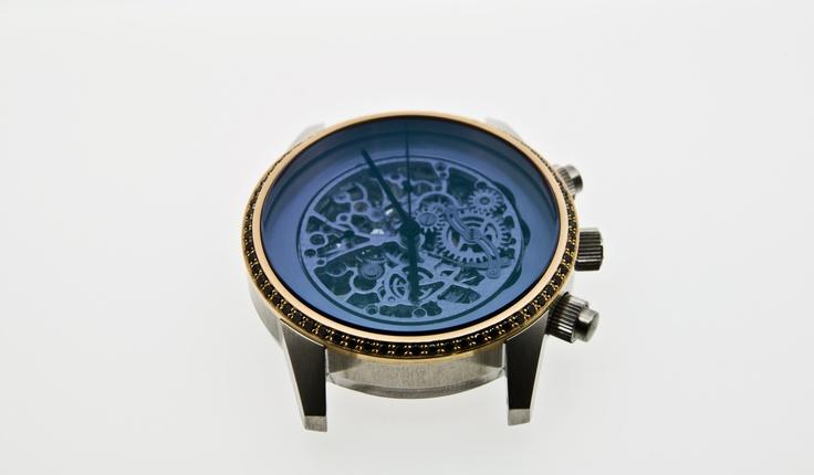 Automatic classic dlc - Black diamonds -   tone in tone dial - barenia nato on mesure. www.mauricedemauriac.ch | info@mauricedemauriac.ch | © www.roccavision.com