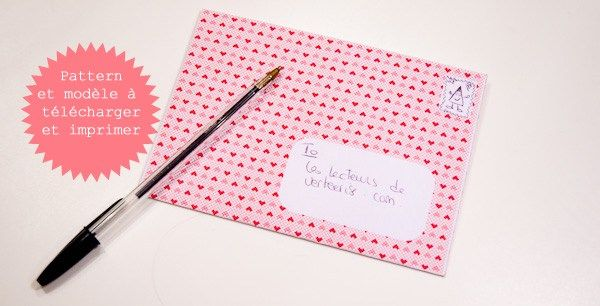J'adore qu'on m'écrive, mais ma boite aux lettres est plus habitué aux prospectus ou aux factures qu'aux jolies cartes postales et petits mots. Alors pour février et avec le pattern de mon calendrier, je vous offre un modèle de lettre à télécharger, à imprimer,et à envoyer (pas forcément à moi, sauf si vous insistez).