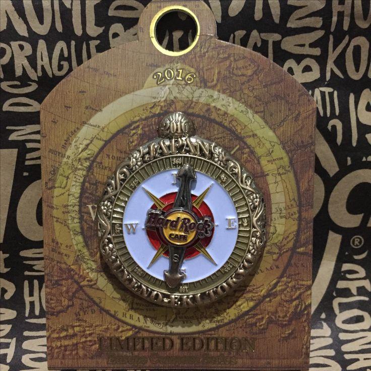 Hard Rock Pin  Japan Uyeno Eki Tokyo  Limited Edition  2016 Compass Series