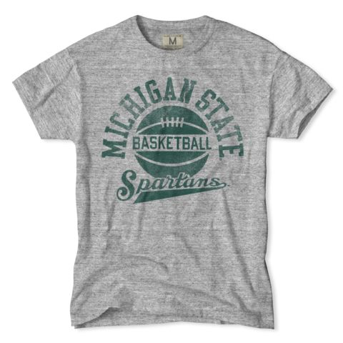 The pride of the Big 10 Spartans know how to party after a victory. Just make sure you show up pregame and postgame ready to dig in with the Spartans Basketball T-Shirt.