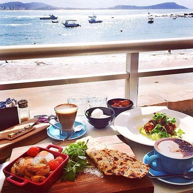 morning breakfast in Terrigal, Australia...
