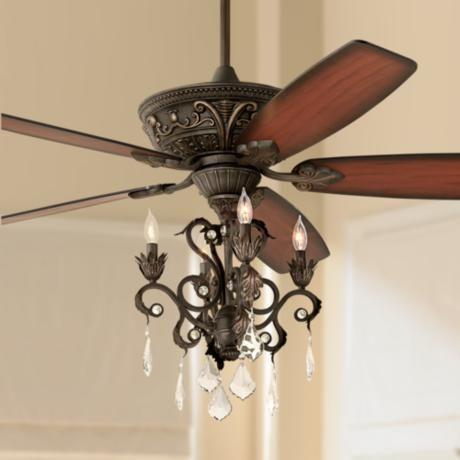 "60"" Casa Montego Bronze Chandelier Ceiling Fan - #56358-58940-4G154   Lamps Plus"