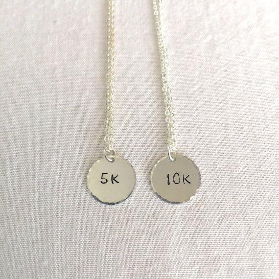 Runner Necklace Marathon Necklace Inspiration by StampedSchmuck