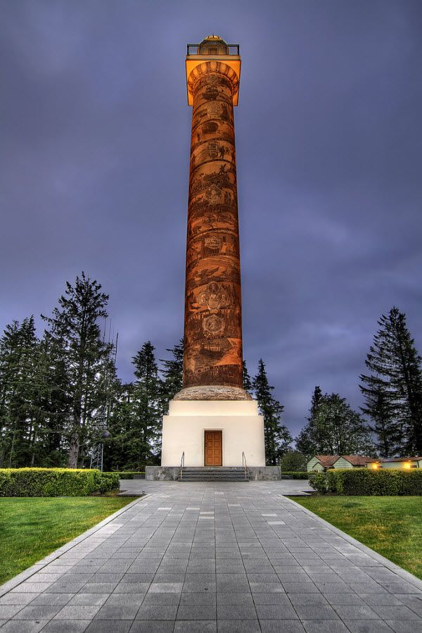 Astoria Column, Astoria, Oregon, USA
