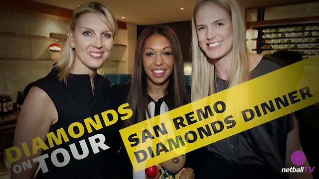 Cath Cox, Chanel Gomes and Caitlin Bassett at the 2012 San Remo dinner.