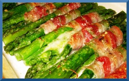 Asparagi alla parmigiana con pancetta