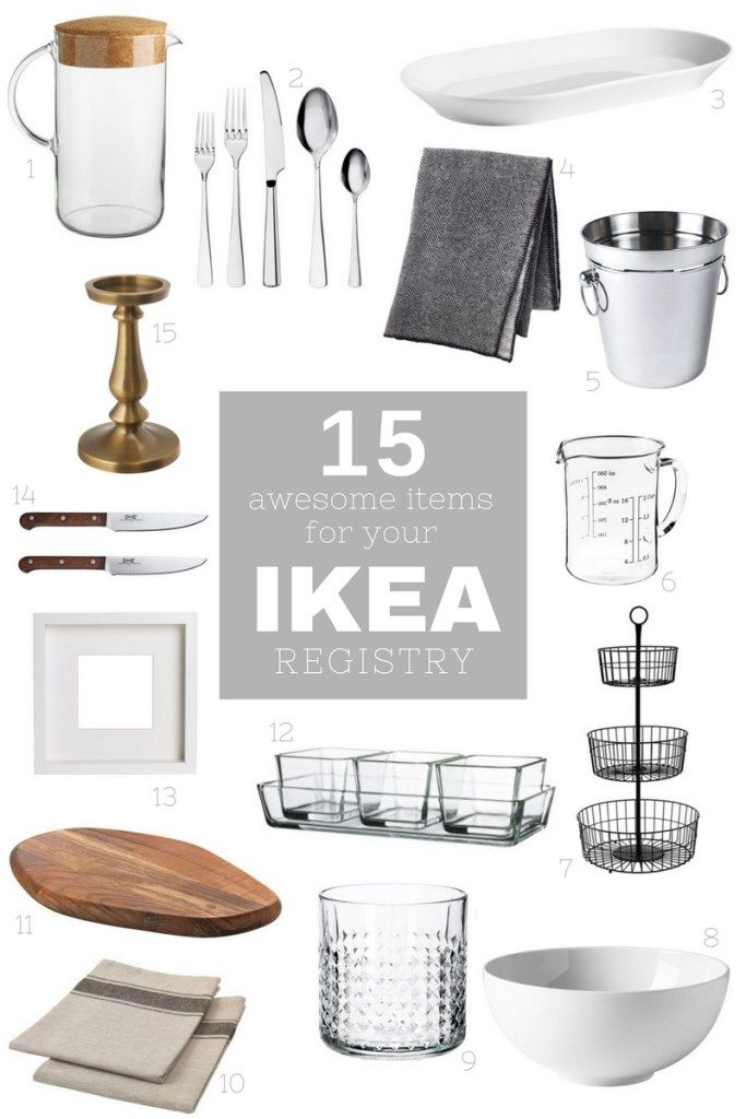 15 awesome items for your IKEA wedding registry