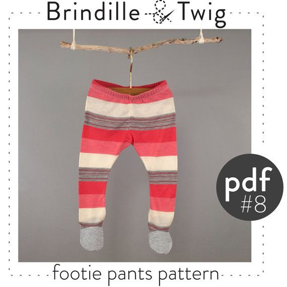 Newborn Pants Pattern Footed Leggings Pdf Download
