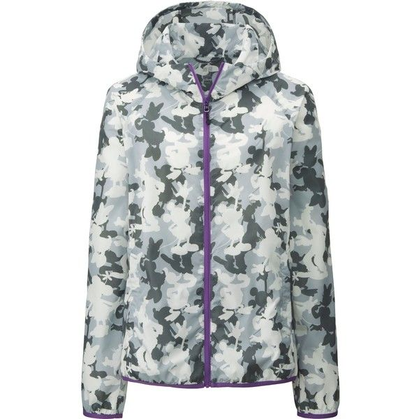 UNIQLO Women's Disney Project Packable Parka ($50) ❤ liked on Polyvore featuring outerwear, coats, grey, uniqlo, grey coat, grey parka, grey parka coat and parka coat