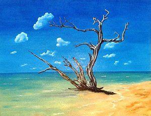 Tobago Painting - No Man's Land  by Liz Sharpe