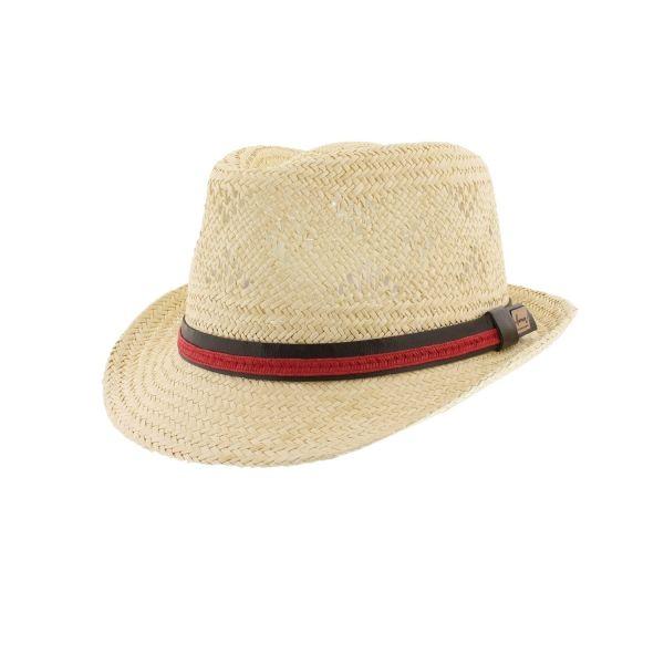 Chapeau paille Beige et Bleu Tribu Herman #chapeaupaille @hermanheadwear #mode #bonplan #homme #startup