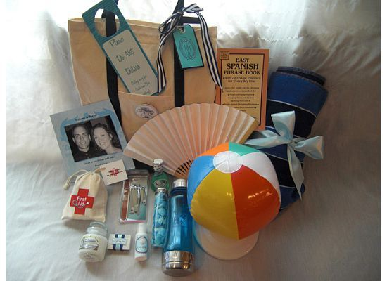 More Beach Themed Welcome Pack Mini Sunscreen Ball Fan First Aid Kit Water