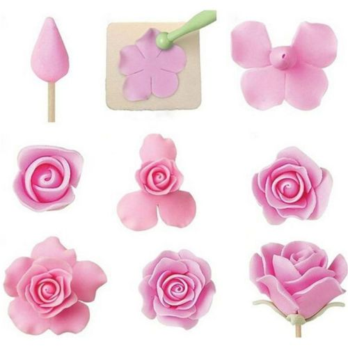 Details about 6Pc Fondant Mold Cake Sugarcraft Rose Flower Decor Cookie Gum Paste Cutter Tool
