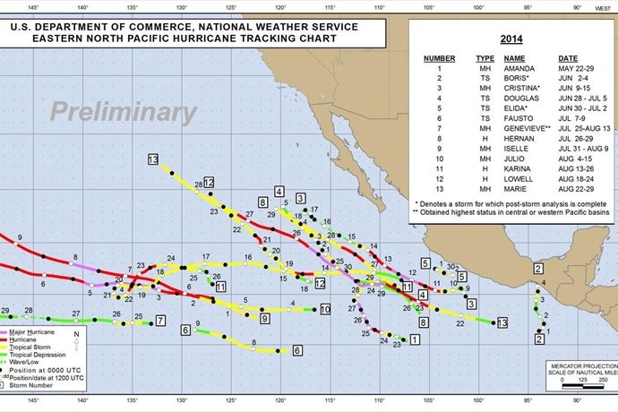 Eastern Pacific hurricane paths bring moisture to Utah