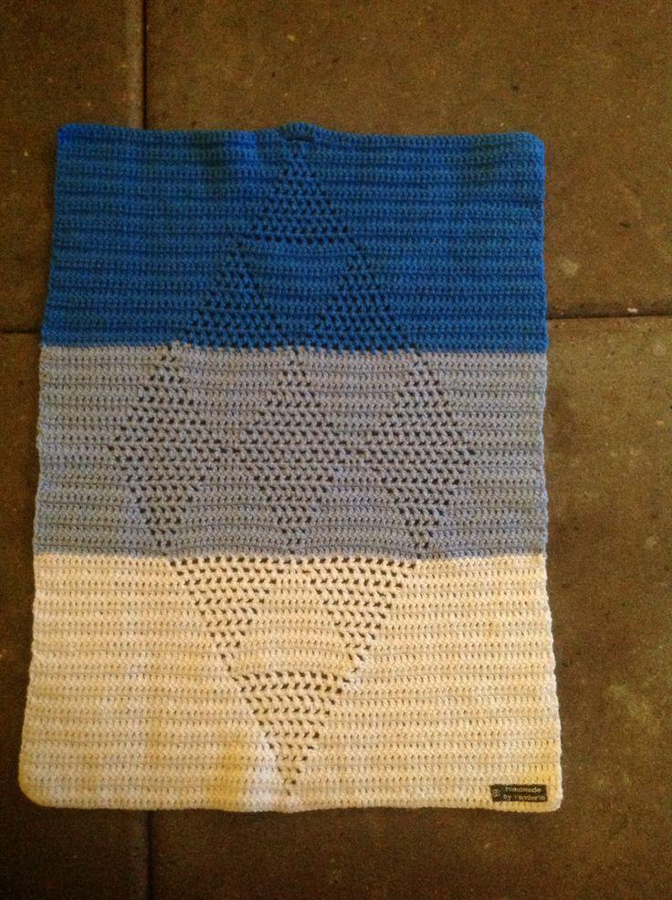 Hæklet håndklæde - harlekin