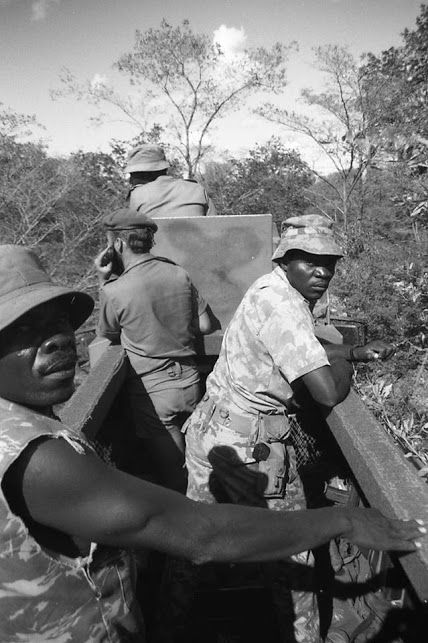 -Koevoet ! Arn Durand & Lucas Kilino , I Think ! Photo probably by Jim Hooper , From his Book Koevoet ! A Counter-Insurgency Classic !