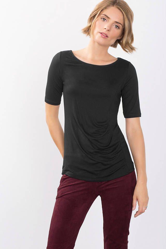 Esprit Online-Shop - Esprit slim fit T-shirts met korte mouwen voor dames kopen in de online shop