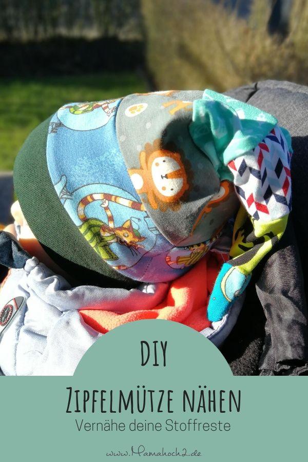 Verbleibende Nutzung – in Ihrer Nähe eine spitze Kappe aus Stoffresten   – Schnittmuster für Kinder