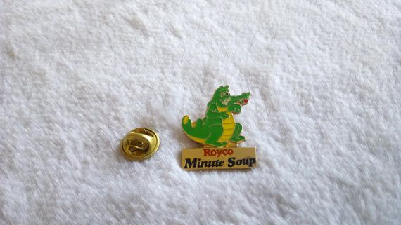 Crocodile Royco minute  pin    soup by Edvintagecollectible