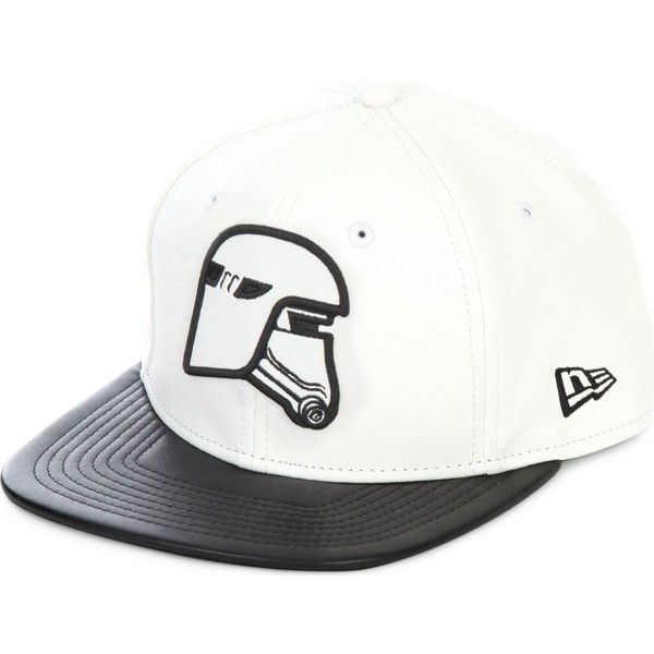 NEW ERA 9Fifty Snowtrooper snapback cap ($69) ❤ liked on Polyvore featuring men's fashion, men's accessories, men's hats and white