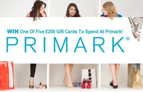 Win One Of Five £200 Gift Cards To Spend At Primark