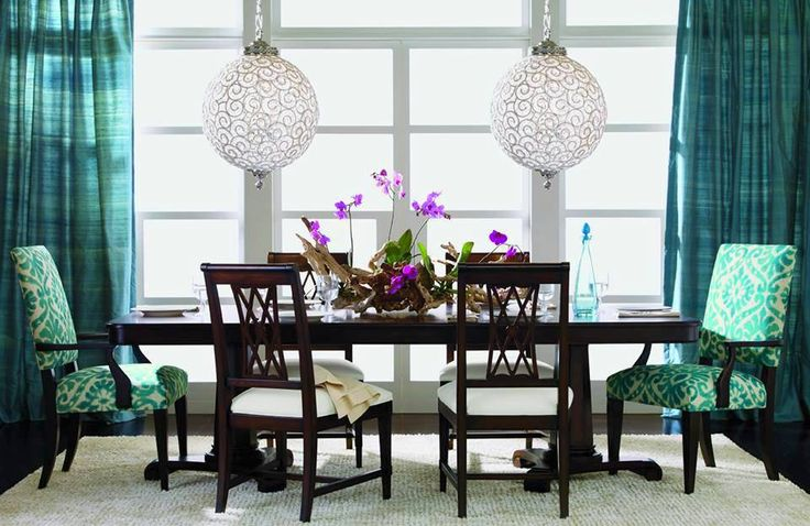 26 best eathan allen inspired by nature images on for Dining room ideas teal