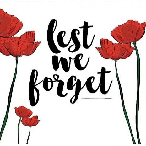 Anzac Day ~ Lest We Forget ♥