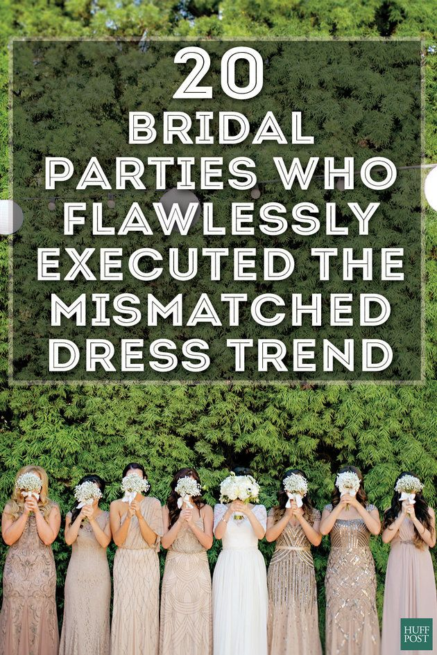 Wedding: 20 Bridal Parties Who Flawlessly Executed The Mismatched Dress Trend
