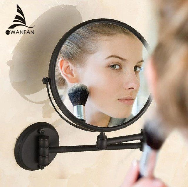 Only For $ 73 Antique Black 8 inch Bathroom Mirrors Magnifying Mirror With Wall Mounting Cosmetic Mirror Bathroom Illuminated Mirrors H-52 https://www.kingmarketplace.net/collections/fashions-accessories/products/antique-black-8-inch-bathroom-mirrors-magnifying-mirror-with-wall-mounting-cosmetic-mirror-bathroom-illuminated-mirrors-h-52