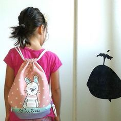 Nuovo zaino da bimba #zigzac #handmade #zaino #zainomorbido #personalizzato #coniglio #coniglietta #rosa #pois #schoolbag #rabbit #pink #kidsdesign #designforkids #instamamme #igers #igersrimini