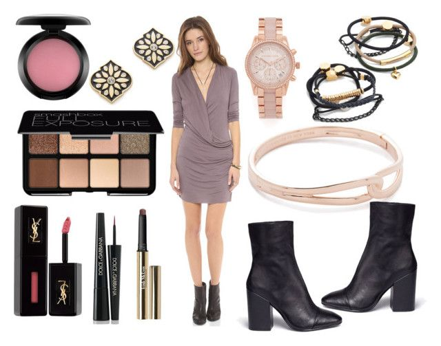 """""""Fashionable"""" by hillarymaguire ❤ liked on Polyvore featuring Young, Fabulous & Broke, By Lilla, Kate Spade, Michael Kors, Ash, Smashbox, Yves Saint Laurent, Dolce&Gabbana, Trish McEvoy and MAC Cosmetics"""