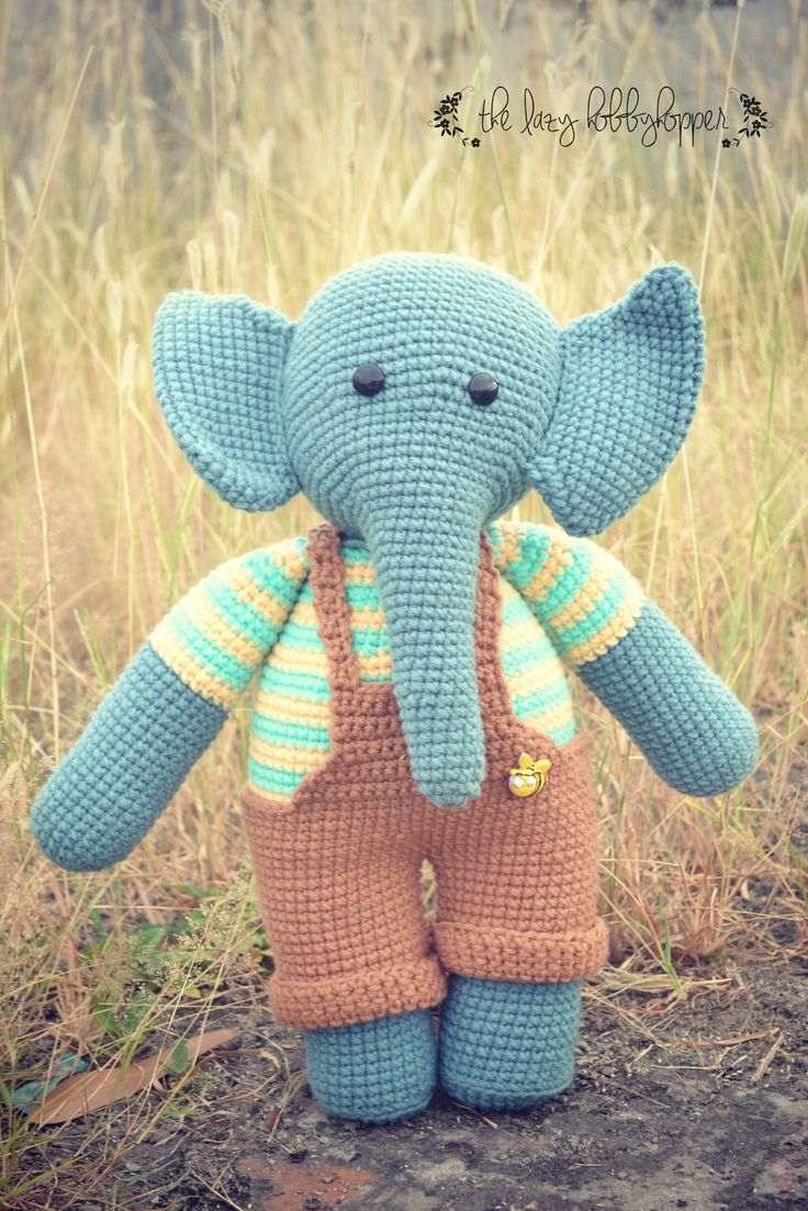 I LOVE elephants! My love for elephants inspired me to create Appu. I normally use sport weight yarn for my toys but for Appu I used hea...