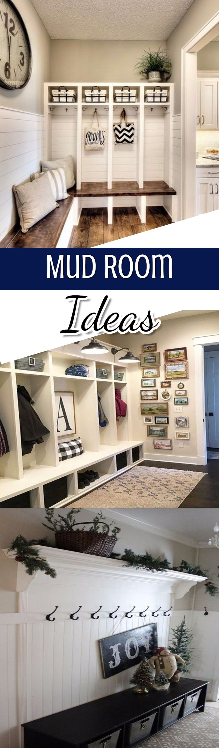 Beautiful mud room ideas for home.  perfect for a foyer DIY project, or in the laundry room or even a dedicated mudroom area.