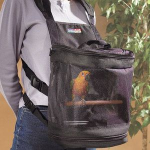 Pet Pocket Bird Carrier.  Most people are posting this to their humor board, but I actually want it haha--i think its a neat idea