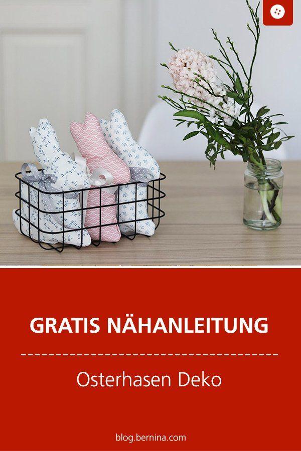 Schlichte Osterhasen als Deko nähen – Katrin Kugnichso