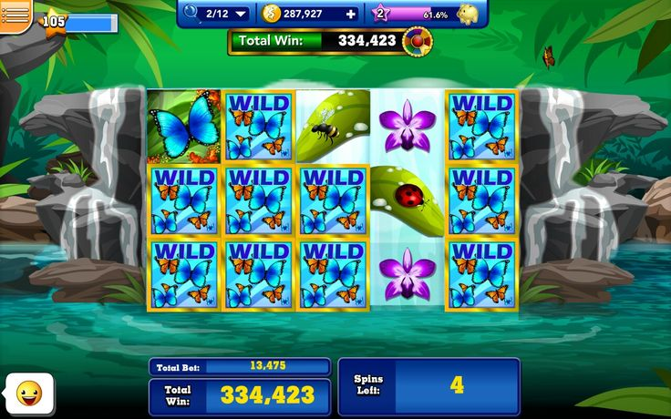 Butterfly Falls slot room