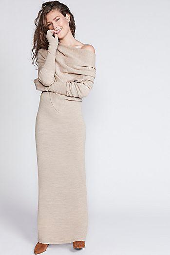 d6f5ec2ef40 Reversible Long Sweater Dress