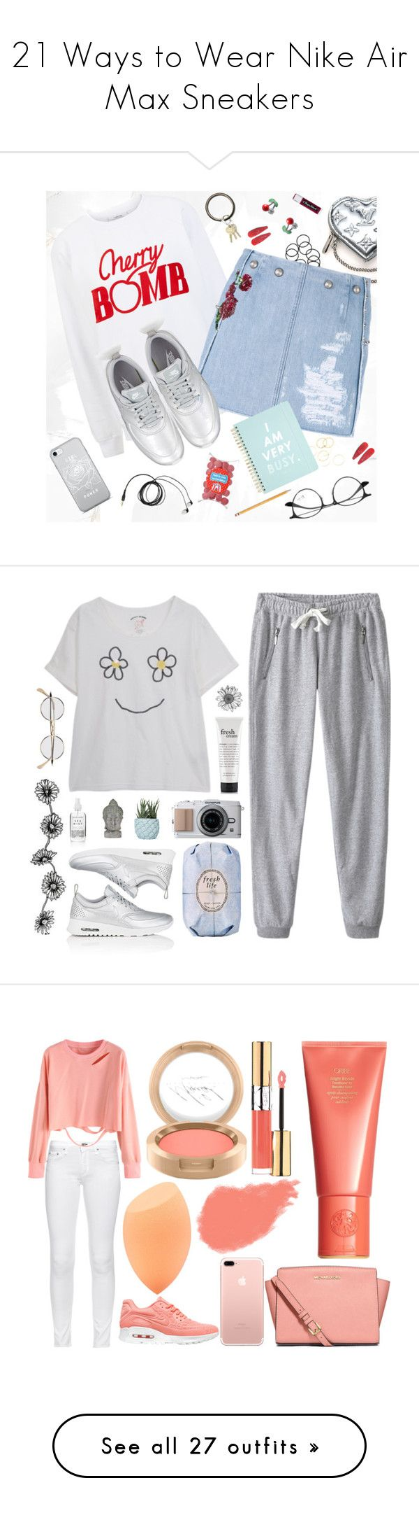 """""""21 Ways to Wear Nike Air Max Sneakers"""" by polyvore-editorial ❤ liked on Polyvore featuring nikeairmax, waystowear, Louis Vuitton, Ganni, Dolce&Gabbana, NIKE, ban.do, A.V. Max, O-Venture and Chapstick"""