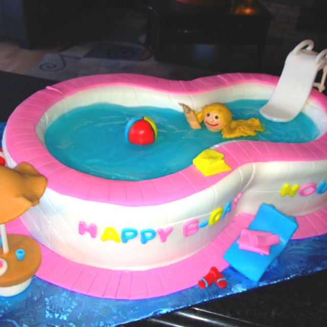 Swimming pool cake My Style Pinterest